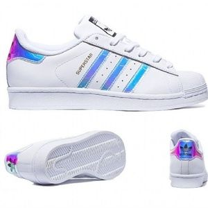 d185e5f5e66 adidas Shoes - ADIDAS Superstar Holographic Tennis Shoes